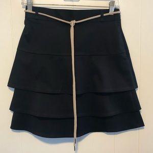 NWT Ann Taylor petite navy blue skirt size 0P.